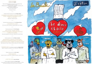 Menu et photos du dîner Illustration Romain Figaro